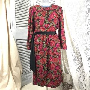VTG Dress by Virgo Floral peasant winter dress